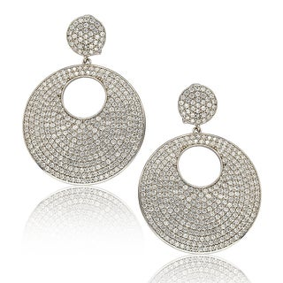 Suzy Levian Sterling Silver Cubic Zirconia Earrings
