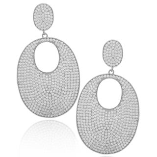 Suzy Levian Cubic Zirconia Sterling Silver Earrings
