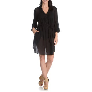 La Cera Women's Self Belted Cover-up Dress (More options available)