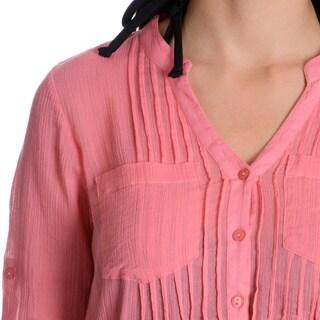 La Cera Women's Self Belted Cover-up Dress