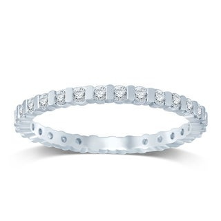 Unending Love 14K White Gold 1/2 ctw Diamond (I-J Color, I1-I2 Clarity) Bar Band