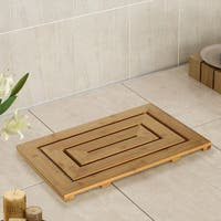 Bamboo Spa Geo Bath Mat