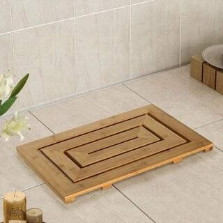 Bamboo Spa Geo Bath Mat