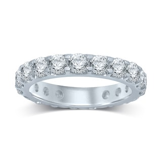 Unending Love 14k White Gold 3ct TDW Prong-set Diamond Eternity Band - White H-I