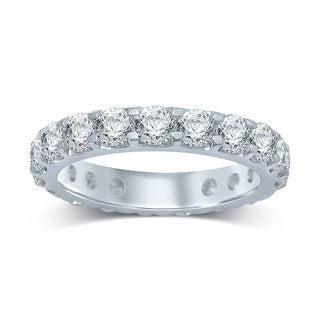Unending Love 14k White Gold 3ct TDW Prong-set Diamond Eternity Band