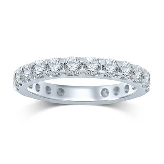 Unending Love 14k White Gold 2ct TDW Prong-set Diamond Eternity Band (H-I, I1-I2)