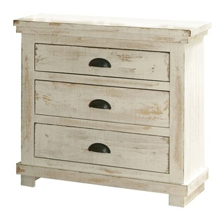 Willow Pine Distressed White Nightstand