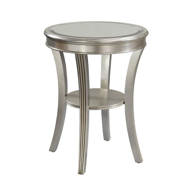 Captivating Christopher Knight Home Round Silver Accent Table