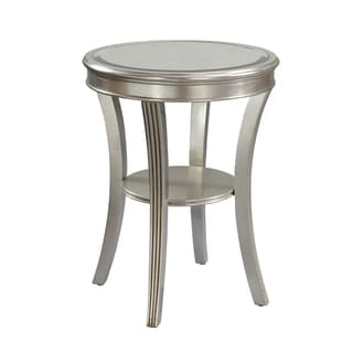 Christopher Knight Home Round Silver Accent Table