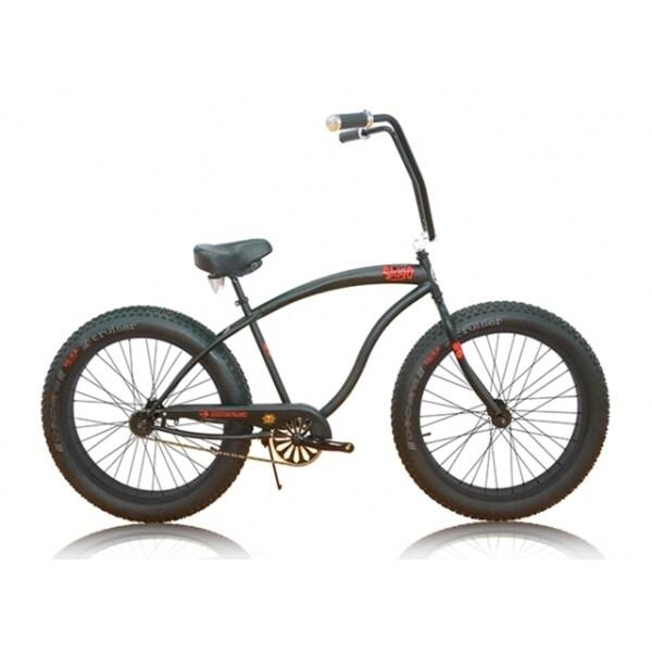 Micargi Slugo Unisex 26-inch Matte Black Fat Tire Beach Cruiser Bike