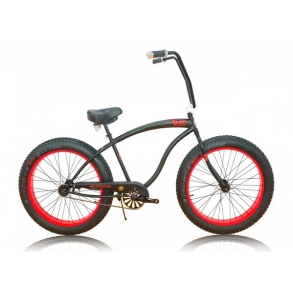 Micargi Slugo Unisex 26-inch Black/ Red Fat Tire Beach Cruiser Bike
