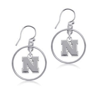 Nebraska Sterling Silver Open Drop Earring