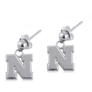 Nebraska Sterling Silver Post Dangle Earrings
