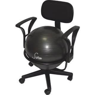 Sivan Health and Fitness Adjustable Back Balance Ball Fit Chair with Arm Rests|https://ak1.ostkcdn.com/images/products/10413293/P17513707.jpg?impolicy=medium