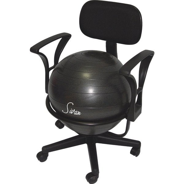 Sivan Health and Fitness Adjustable Back Balance Ball Fit Chair with Arm Rests