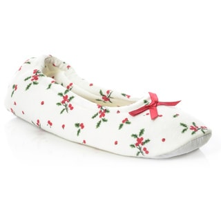 La Cera Women's Christmas Morning Slipper