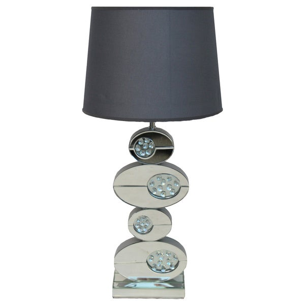 Danny 32 inch artistic ovals mirror table lamp free shipping today