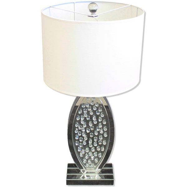 Paxton 30-inch Oval Crystal Accents Table Lamp