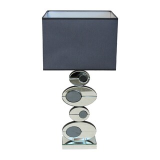 Elba 29-inch Artistic Ovals Mirror Table Lamp