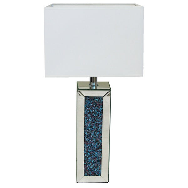 Andrea Rhinestones 28-inch Column Table Lamp