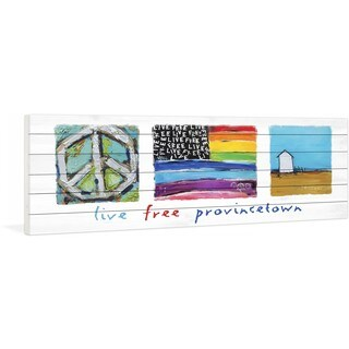 Marmont Hill - Live Free Provincetown by Tori Campisi Painting Print on White Pine Wood