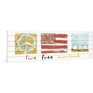 Marmont Hill - Live Free Montauk by Tori Campisi Painting Print on White Pine Wood
