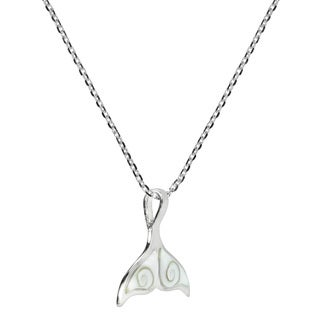 Freedom Joy Whale Tail Shiva Shell .925 Silver Necklace (Thailand)