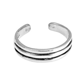 ChicTri Wire Band .925 Silver Toe or Pinky Ring (Thailand)