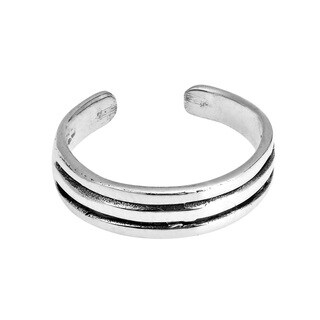 Handmade ChicTri Wire Band .925 Sterling Silver Toe or Pinky Ring (Thailand)