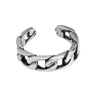 Handmade Bonded Celtic Chain Link Sterling Silver Toe or Pinky Ring (Thailand)