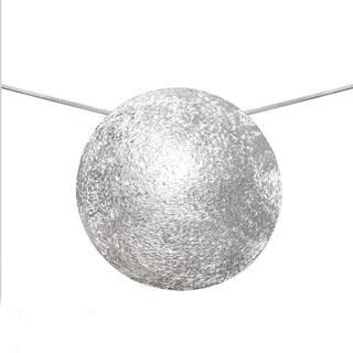 Handmade Sterling Silver Matte Finish Pendant (India)