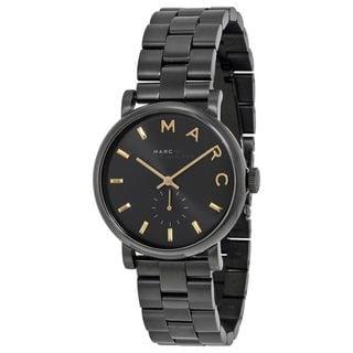 Marc Jacobs Women's MBM3358 'Baker' Black Stainless Steel Watch