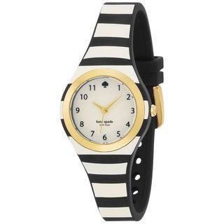 Kate Spade Women's 1YRU0749 'Rumsey' Black and White Plastic Watch
