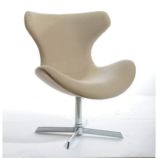 Modrest Aludra Modern Beige Fabric Lounge Chair