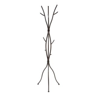 Contemporary Sassafras Tree Style Metal Coat Rack