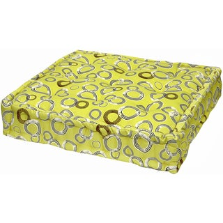 Yellow Circles Floor Cushion