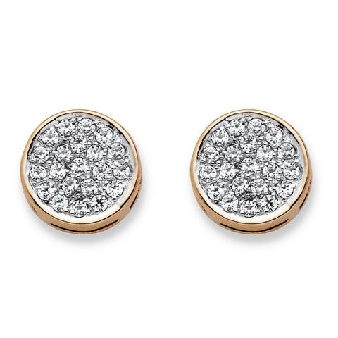 10k Yellow Gold 1/4ct TDW Diamond Cluster Stud Earrings