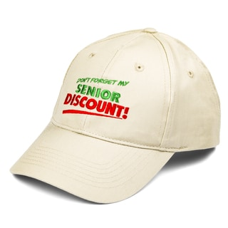 'Dont Forget My Senior Discount' Baseball Cap