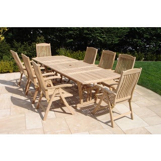 Roble Wood 9 piece Dining SetOutdoor Dining Sets   Shop The Best Patio Furniture Deals for Nov  . Outdoor Furniture Dining Sets. Home Design Ideas
