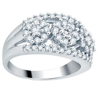 Divina 14k White Gold 1ct TDW Bridal Fashion Ring