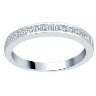Divina 14k White Gold 1/3ct TDW Princess Wedding Band (H-I, I1-I2)