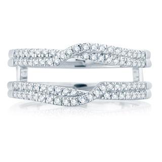 Divina 14k White Gold 3/8ct TDW Diamond Wrap Ring