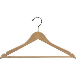 Natural Finish Wooden Suit Hanger (Case of 25)