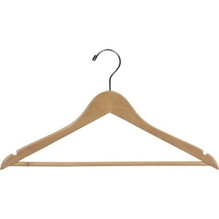 Natural Finish Wooden Suit Hanger (Case of 50)