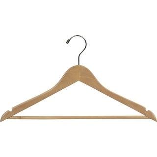 Natural Finish Wooden Suit Hanger (Case of 100)