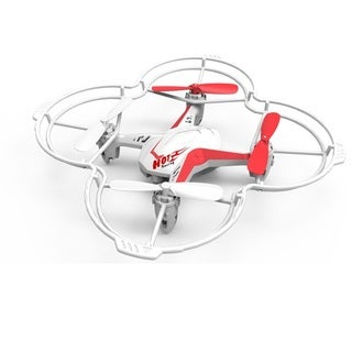 Riviera White/ Red RC Voice Controlled Quadcopter