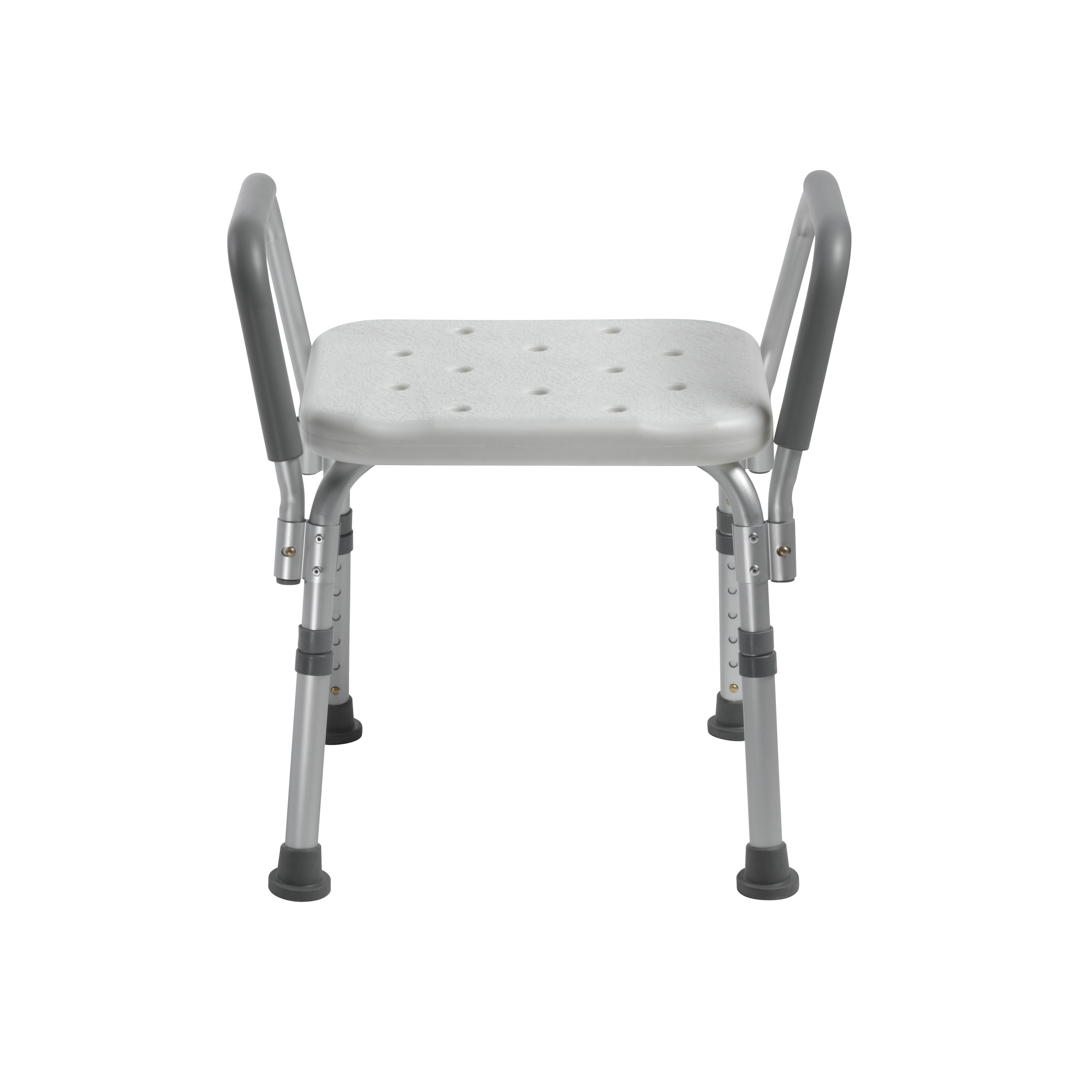 Drive Medical Knock Down Bath Bench with Padded Arms, Sil...