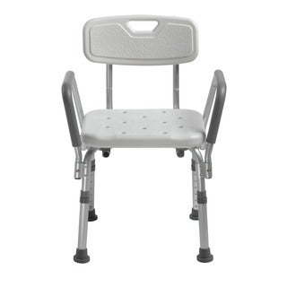 Drive Medical Knock Down Bath Bench with Back, and Padded Arms