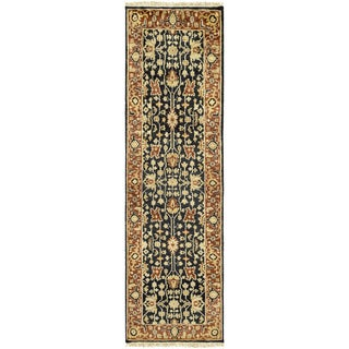 """Hand-Knotted Davon Border Indoor Area Rug - 2'6"""" x 8' Runner"""