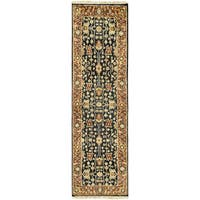 Hand-Knotted Davon Border Indoor Area Rug - 2'6 x 8'